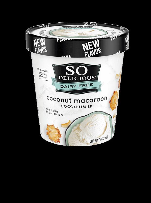 Coconut Macaroon Coconutmilk Frozen Dessert