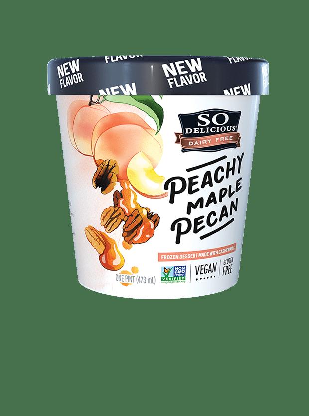 Peachy Maple Pecan Cashewmilk Frozen Dessert