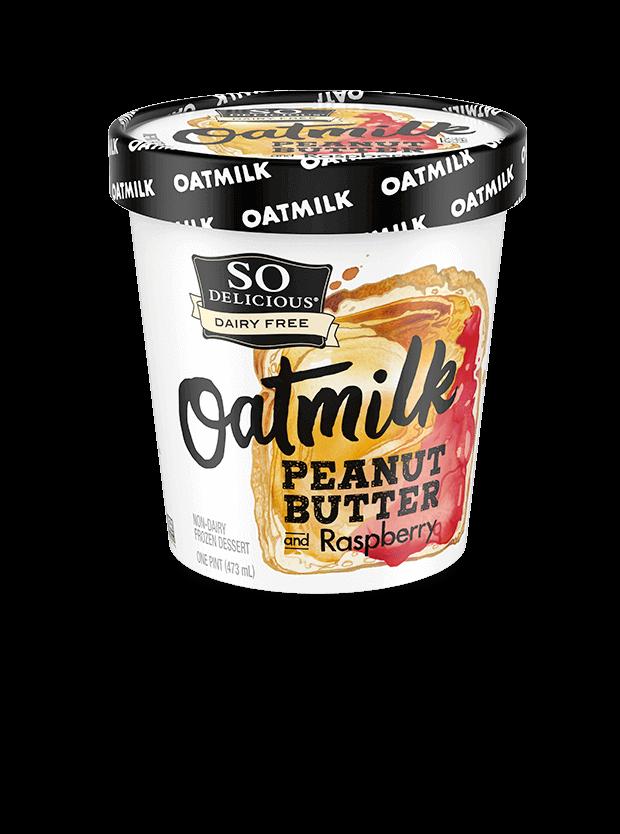 Peanut Butter & Raspberry Oatmilk Frozen Dessert