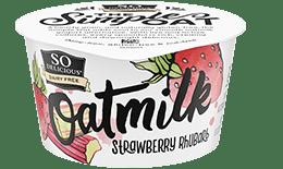 Strawberry Rhubarb Oatmilk Yogurt