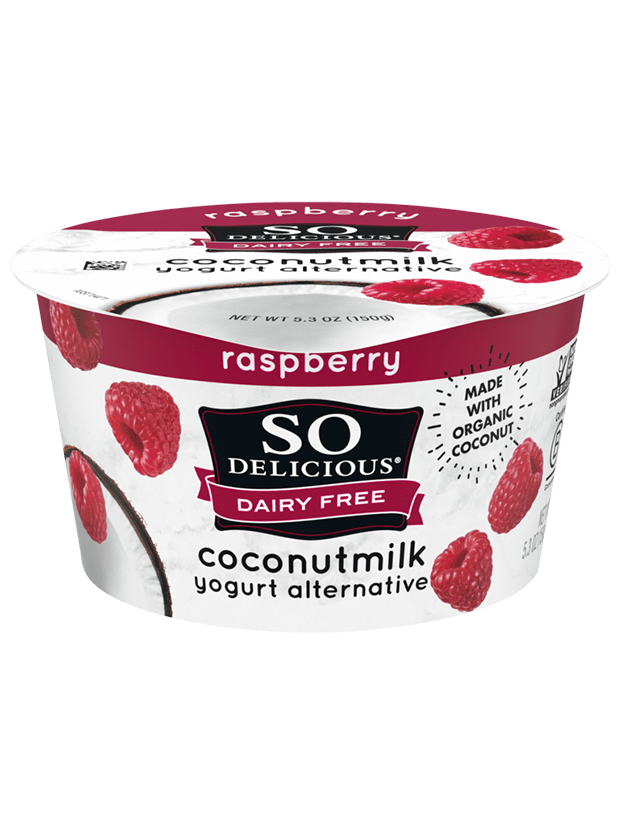 Raspberry Coconutmilk Yogurt
