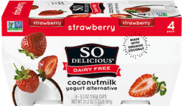 Strawberry Coconutmilk Yogurt 4 Pack