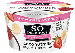 Strawberry Banana Coconutmilk Yogurt