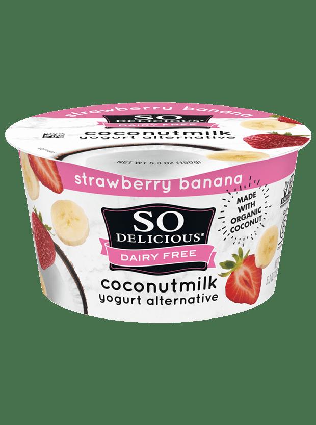 Strawberry Banana Coconutmilk Yogurt