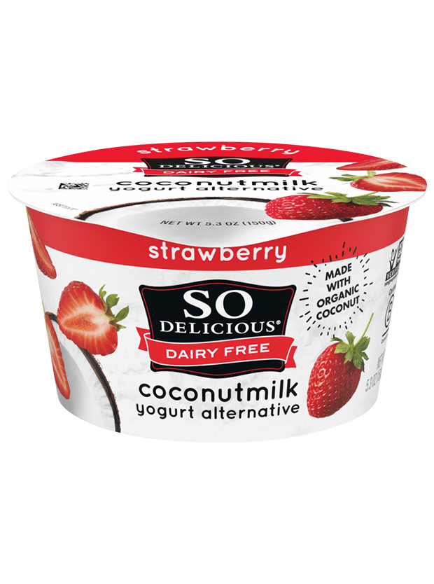 Strawberry Coconutmilk Yogurt